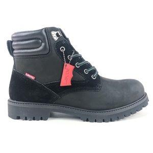 Levis Dunbar Black Leather Ankle Boots 516758-A48